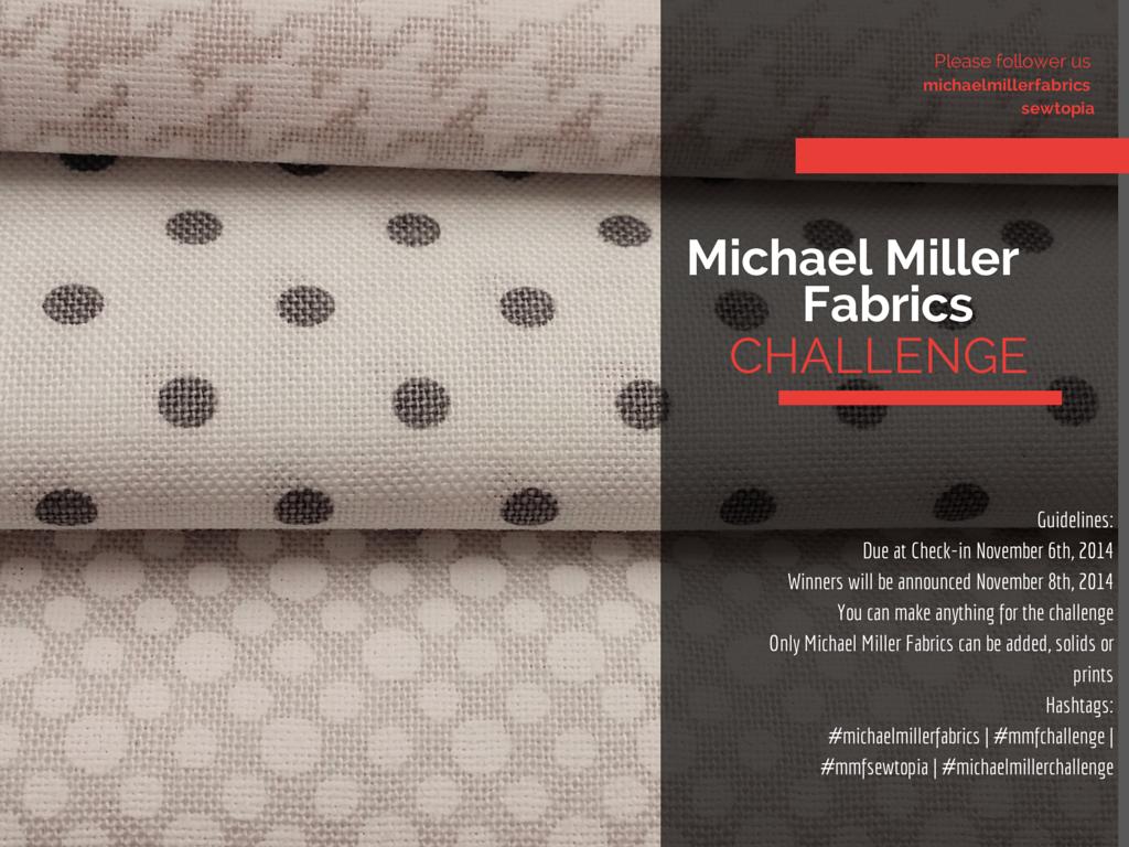 11 Sep Michael Miller Fabric Challenge for Salt Lake
