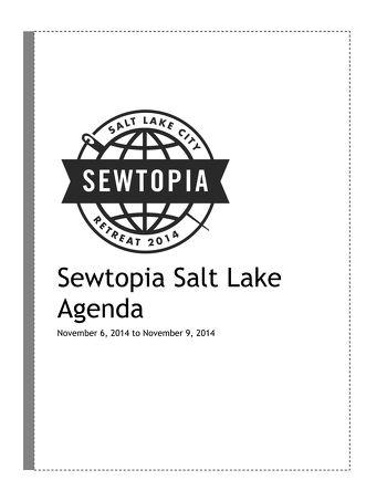 29 Oct Sewtopia Salt Lake Attendee Agenda
