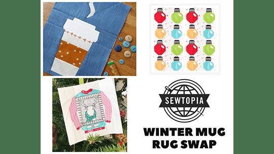 Online Winter Mug Rug Swap 2018